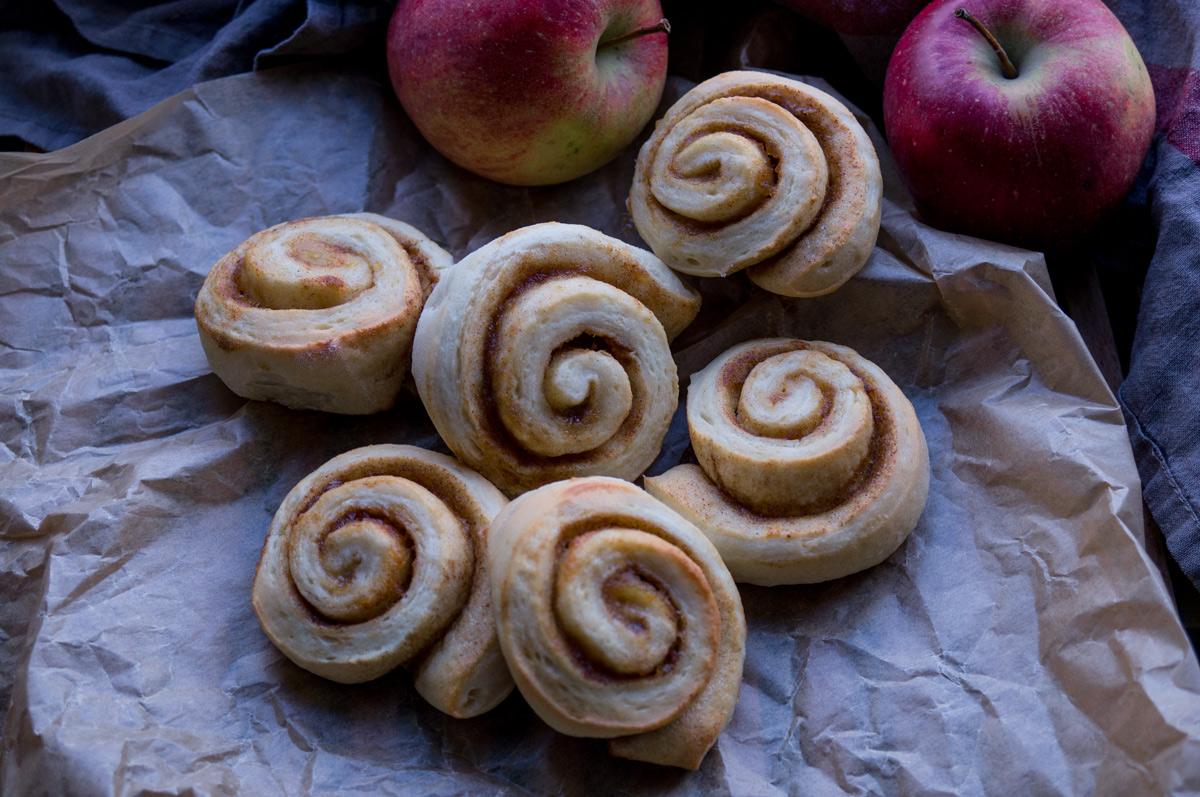 Apfel-Zimtschnecken